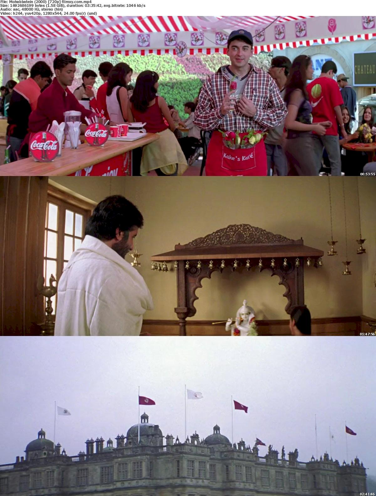 Mohabbatein (2000) 720p & 1080p Bluray Free Download 720p Screenshot