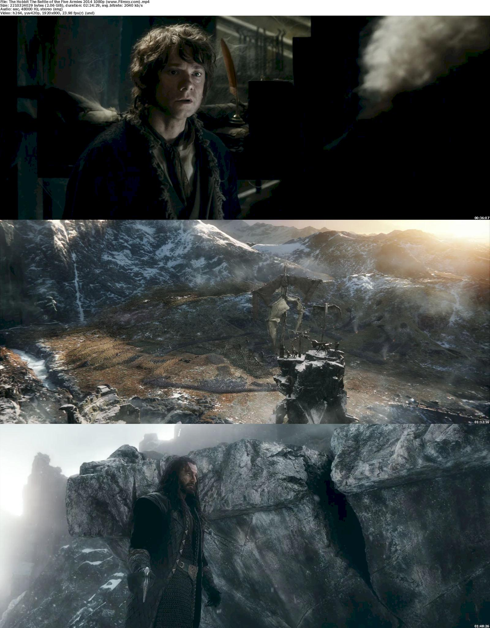 The Hobbit: Battle Of The Five Armies (2014) 720p & 1080p Bluray Free Download 1080p Screenshot