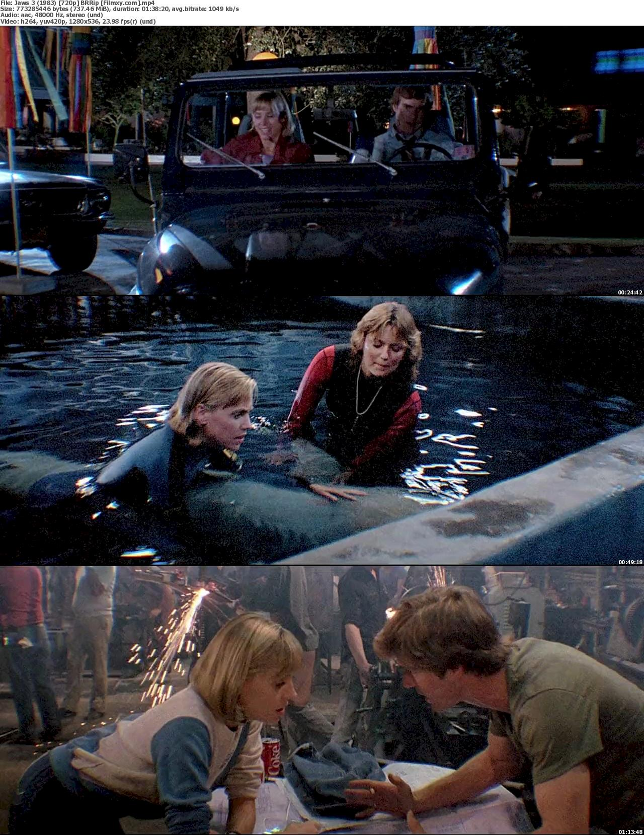 Jaws 3-D (1983) 720p & 1080p BR-Rip Free Download 720p Screenshot