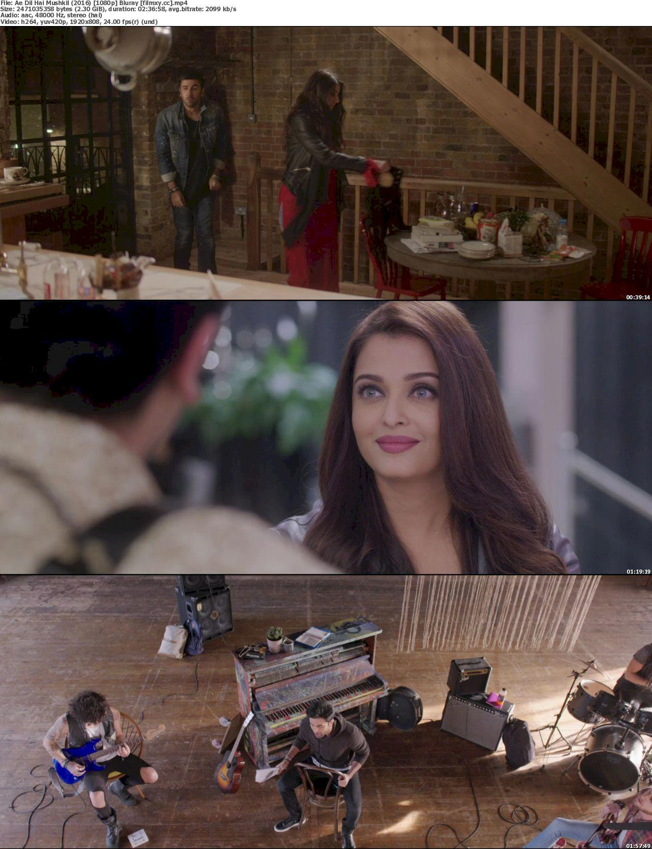 Watch Ae Dil Hai Mushkil (2016) Full Movie on Filmxy