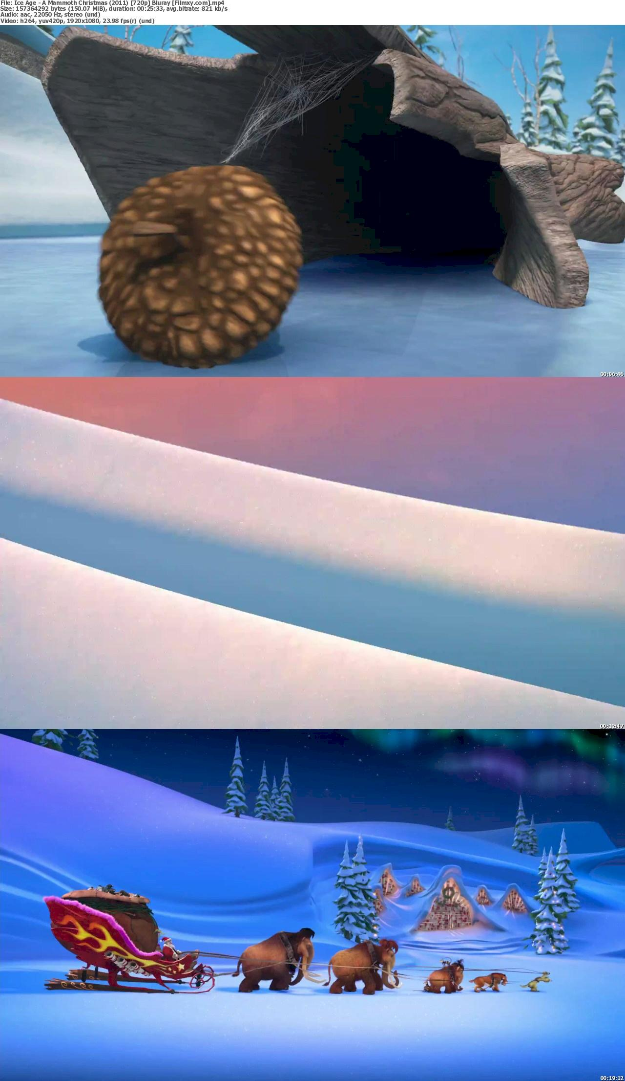 Ice Age: A Mammoth Christmas (2011) 180p Bluray Free Download 1080p Screenshot