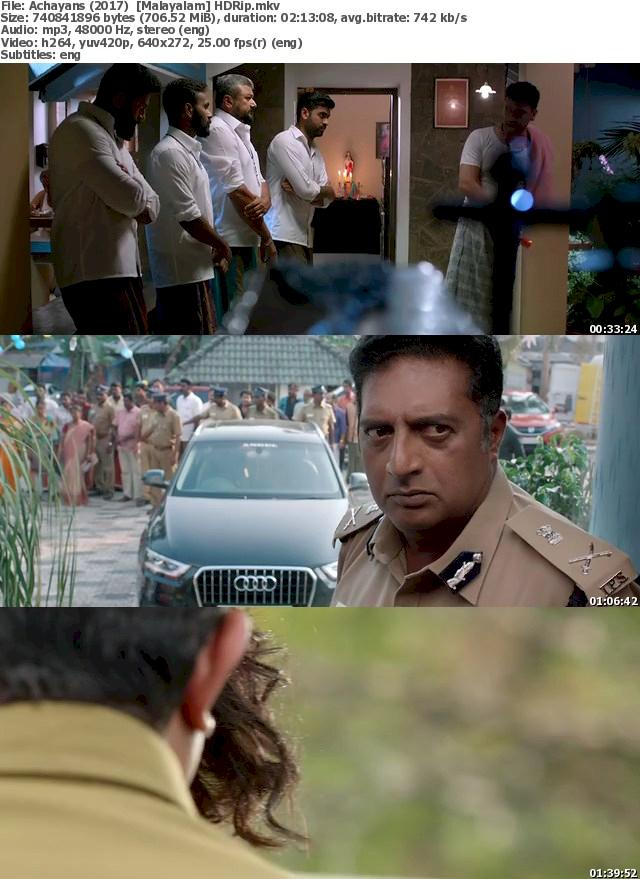 Achayans (2017) HDRip Free Download 480p Screenshot