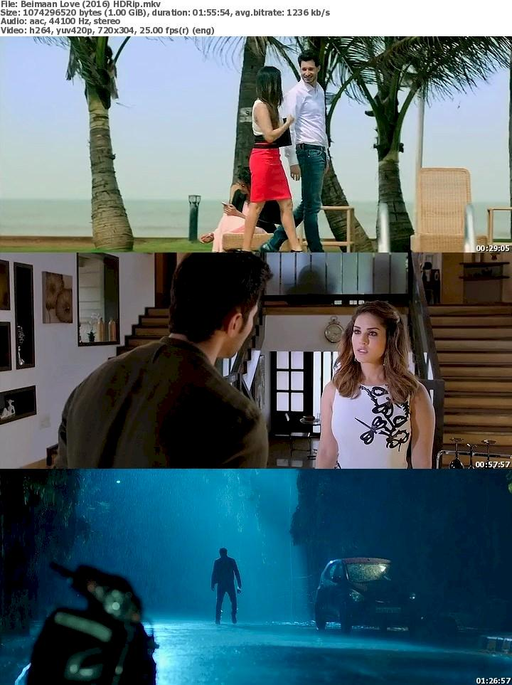Beiimaan Love (2016) HDRip Free Download 480p Screenshot