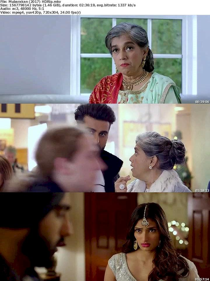 Mubarakan (2017) HDRip Free Download 480p Screenshot