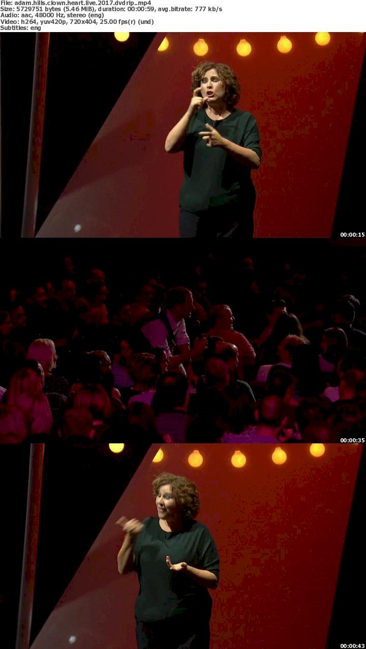 Adam Hills – Clown Heart – Live (2017) DVDRip Free Download 480p Screenshot
