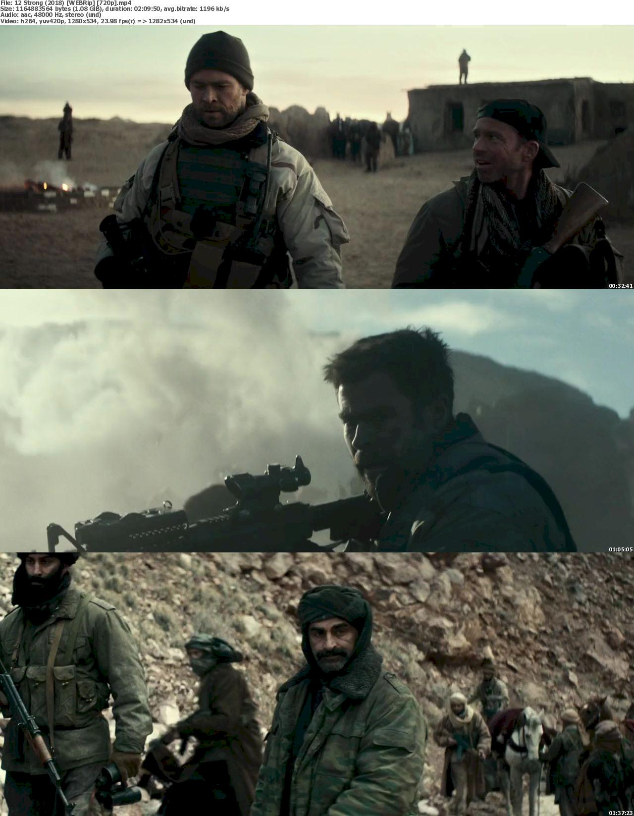 12 Strong (2018) [720p] WEB-Rip Free Download 720p Screenshot