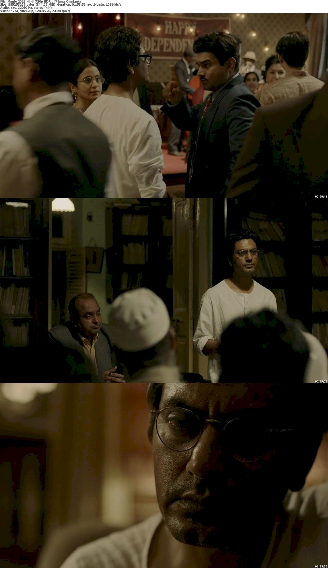 Manto (2018) Hindi 720p HDRip Free Download & Watch Online 720p Screenshot