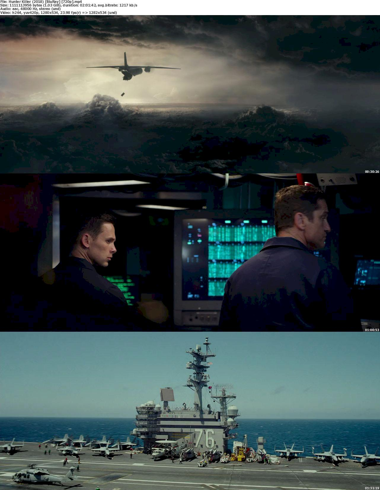 Hunter Killer (2018) [720p & 1080p] Bluray Full Movie Watch Online & Download 720p Screenshot
