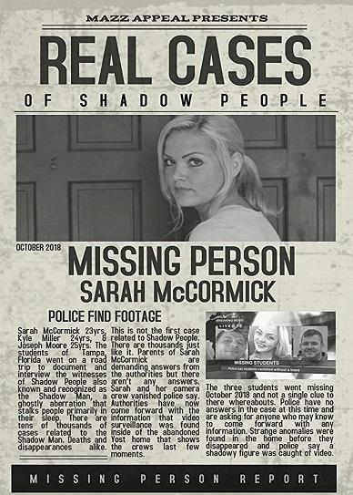 Real Cases of Shadow People The Sarah McCormick Story (2019) Cover