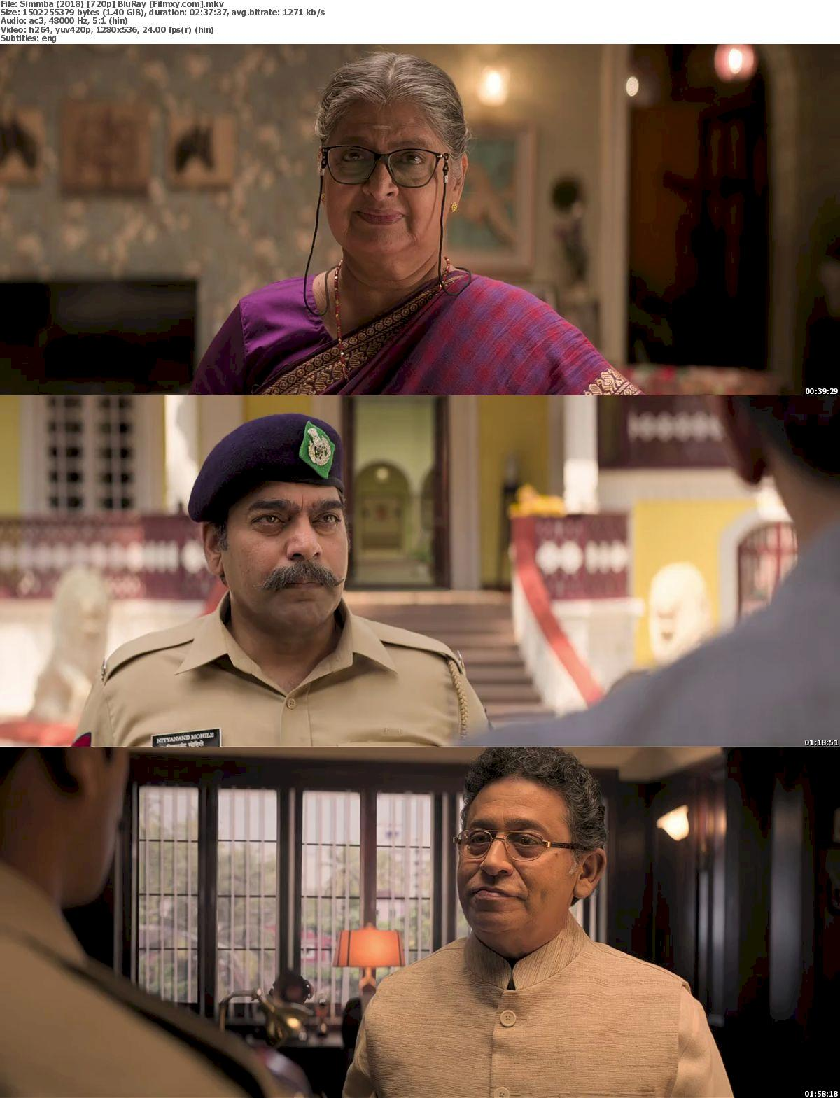 Simmba (2018) 720p Screenshot